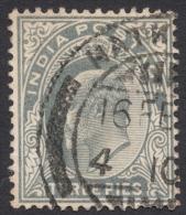 India, 3 P. 1902, Sc # 60, Used (2) - India (...-1947)
