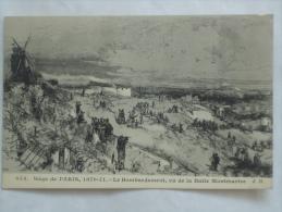 PARIS  ( 75 )  MONTMARTRE SIEGE DE PARIS 1870/71 LE BOMBARDEMENT VUE DE MONTMARTRE CPA  073 - Sacré Coeur