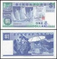Singapore #18a, 1 Dollar, ND (1987), UNC / NEUF - Singapur