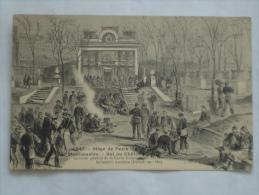 PARIS  ( 75 )  MONTMARTRE SIEGE DE PARIS 1870-71 BAL DU CHATEAU  CPA 047 - District 18