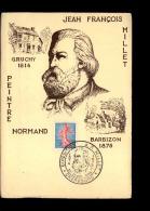 50 - GRANVILLE - Carte Philatélique - Premier Jour - Millet - Granville