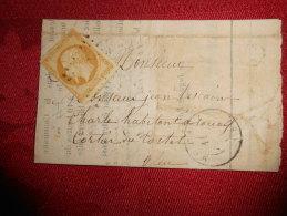Lot Du 20.08.13_06_ Lettre  Avec N°13 De Massat ,boite Rurale - 1849-1876: Periodo Clásico