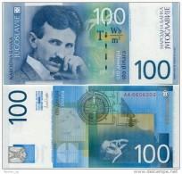 YUGOSLAVIA - JUGOSLAWIEN:  100 Dinara 2000  UNC  P-156  TESLA  *Last YU Banknote ! - Joegoslavië