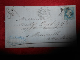 Lot Du 20.08.13_21_ Lettre   Avec N°21 Etoile 15 Superbe,variété - 1849-1876: Période Classique