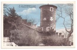 CPSM Colorisée Le Chambon Feugerolles Loire 42 Le Château édit Perrier - Le Chambon Feugerolles