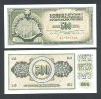 YUGOSLAVIA - JUGOSLAWIEN:  Best Price! Genius TESLA, 500 Dinara 1970 UNC *P-84b *w/security Thread - Yougoslavie