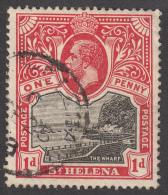 St Helena 1912  1d  SG73a  Used - Sint-Helena
