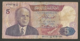 BANQUE CENTRALE DE TUNISIE - 5 DINARS (03/11/1983) BOURGUIBA - Tunisia
