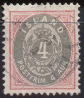 ICELAND - ISLANDE - 4 A - Mi. 20 - USED- 1900 - Oblitérés