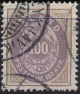 ICELAND - ISLANDE - 100 A - Mi. 17A - USED- 1892 - Oblitérés