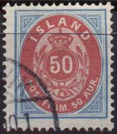 ICELAND - ISLANDE - 50 A - Mi. 16A - USED- 1892 - Oblitérés