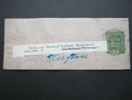 ALPENVEREIN, Streifband 5 Heller  Gebraucht - Stamped Stationery