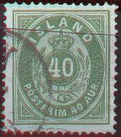 ICELAND - ISLANDE - 40 A - Mi. 14A  - USED- 1876 - RARE - Oblitérés
