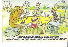 - And These Closed-mouth Natives Wont Give You The Slightest Clue Where Moose Is!   Park Lodge Parc De LaVerendrye, Que. - Humour
