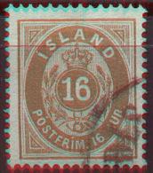 ICELAND - ISLANDE - 16 A - Mi. 9A  - USED- 1876 - Oblitérés