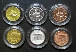 Thailand Comm 3 Coins 2013 Zodiac Year Of Snake - Thaïlande