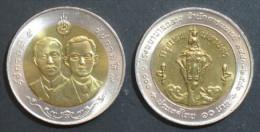 Thailand Coin 10 1998 100th Central Hospital - Thailand