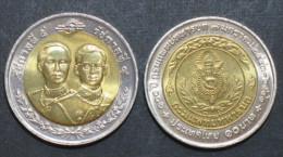 Thailand Coin 10 2000 100th Army Medical Departmen - Thailand