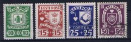 Estland: 1937 , Mi Nr 127 - 130 , Used - Estonie