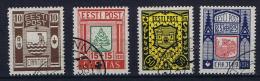 Estland: 1938 , Mi Nr 131 - 134 , Used - Estonie
