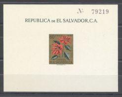El Salvador - 1960 Flowers Block (2) MNH__(TH-10425) - El Salvador