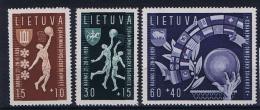 Lietuva/ Litauen: 1939, Mi 429 - 431, MNH/**