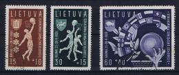 Lietuva/ Litauen: 1939, Mi 429 - 431  Used /** - Lithuania