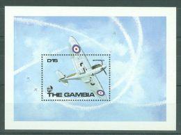 Gambia - 1990 WW2 Aircrafts Block (2) MNH__(TH-8748) - Gambia (1965-...)