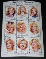 Gambia - 1995 Marilyn Monroe Kleinbogen MNH__(THB-2404) - Gambia (1965-...)