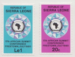 African Summit Conference, Emblem, Map MNh Sierra Leone - Sierra Leone (1961-...)