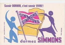 """Buvard Ancien  """"Simmons""""  Dormez Simmons - Buvards, Protège-cahiers Illustrés"""