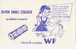 """Buvard Ancien  """"Fil à Coudre""""   WF - Buvards, Protège-cahiers Illustrés"""