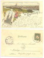 REGENSBURG 1897 Litho RARE - Regensburg