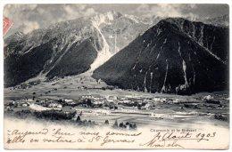 CP, 74, CHAMONIX Et Le BREVENT, Dos Simple, Voyagé En 1903 - Chamonix-Mont-Blanc