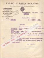 Lettre De 1929 - HERGENRATH - FABRIQUE TUBES ISOLANTS - Unclassified