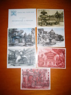 TEM12663  -   VATICANO  -   SEI VEDUTE DI ARCHITETTURE E FONTANE  -  FOLDER 6 CARDS NUOVE - Interi Postali