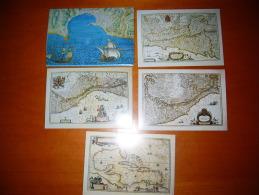 TEM12664  -   VATICANO  -    4 CARDS CON ANNULLO 1° GIORNO + FOLDER - Interi Postali