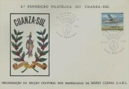 ANGOLA - TIMBRES - STAMPS - MARCOPHILIA - 3er. EXPOSITION PHILATÉLIQUE  DU CUANZA-SUL - NOVO REDONDO 01-12-1965 - Angola