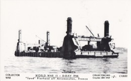 WORLD WAR 2 'SPUD' PIERHEAD OFF ARROMANCHES, FRANCE. COLLECTORCARD C 12022 - Equipment