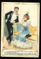 Chromo Pub Alcool Menthe Ricolès Illustrateur Albert Guillaume Couple En Soirée  6ao33 - Autres