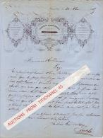Facture superbement illustr�e de 1865 - IXELLES - LEON DE ROY - Fonderie typographique - Filets en cuivre, fleurons...