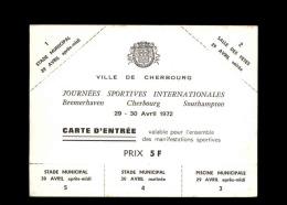 50 - CHERBOURG - Carte D'entrée Au Stade Municipal - Non Classés