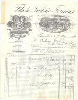 Facture BOUGIES FOURNIER--FILS DE FREDERIC FOURNIER-MARSEILLE  1893 - France