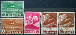 Island   1948   MiNr.248+249+250a+250b+252 (O) ( Lot 1913 ) - Usati