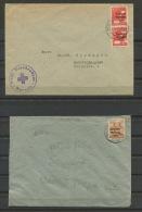 """Germany 1948 (2) Covers To Duseldorf, Berlin Overprint """"Sowjetische Besetzungs Zone"""" - Zone Soviétique"""
