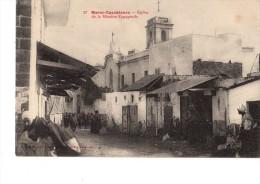 C P A ---MAROC----CASABLANCA---eglise De La Mission Espagnole---voir 2 Scans - Casablanca