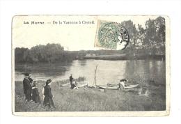 Cp, 94,La Marne, De La Varenne à Créteil, Voyagée - France