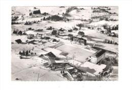 74 - MEGEVE - VUE AERIENNE - QUARTIER DE ROCHEBRUNE - LA PATINOIRE DU SPORTING-CLUB 1955 Patineurs - Patinage Artistique