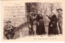 Folklore-Danse-La Bourrée D´Auvergne-Bourreio D´Auvergno-Types Du Centre-Le Vis-à-vis-musicien- Musique-Bugle?-Piston? - Danses
