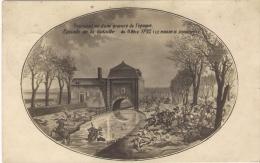 Jemappes, Reproduction D'une Gravure De L'époque Illustrant La Bataille De 1792, Le Moulin De Jemappes - Peintures & Tableaux